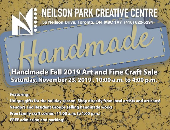 Neilson Park 2019 Homemade Art & Craft Sale